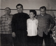 Mom's Brothers; Richard, Ernest, Mom & Ivan, Fresno, California