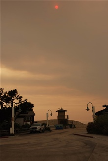Carpinteria, California - Thomas fire photgraphed from the Salt Marsh